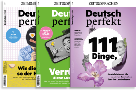 Deutsch perfekt magazine - learn German with news and feature articles