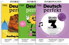 Deutsch perfekt Plus exercise book - learn German with exercises on German grammar, vocabulary and more